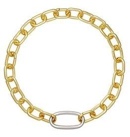 Machete Interchangeable Large Oval Link Necklace - 14k