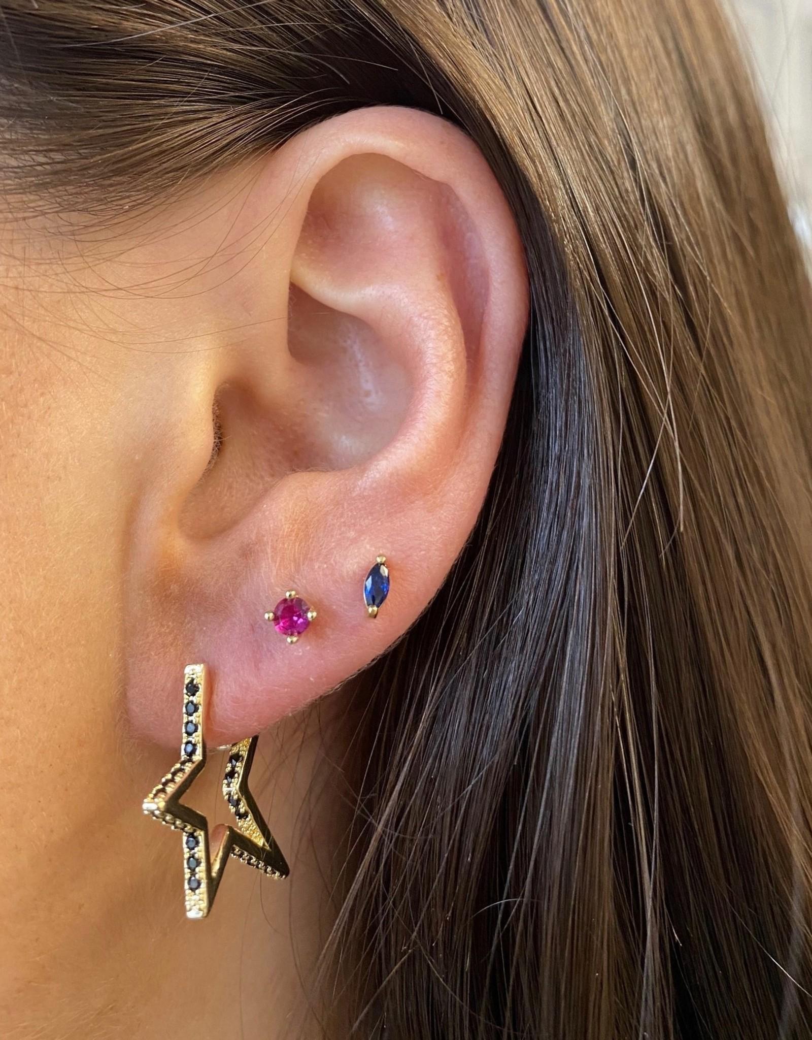 Melinda Maria Pave Star Earring