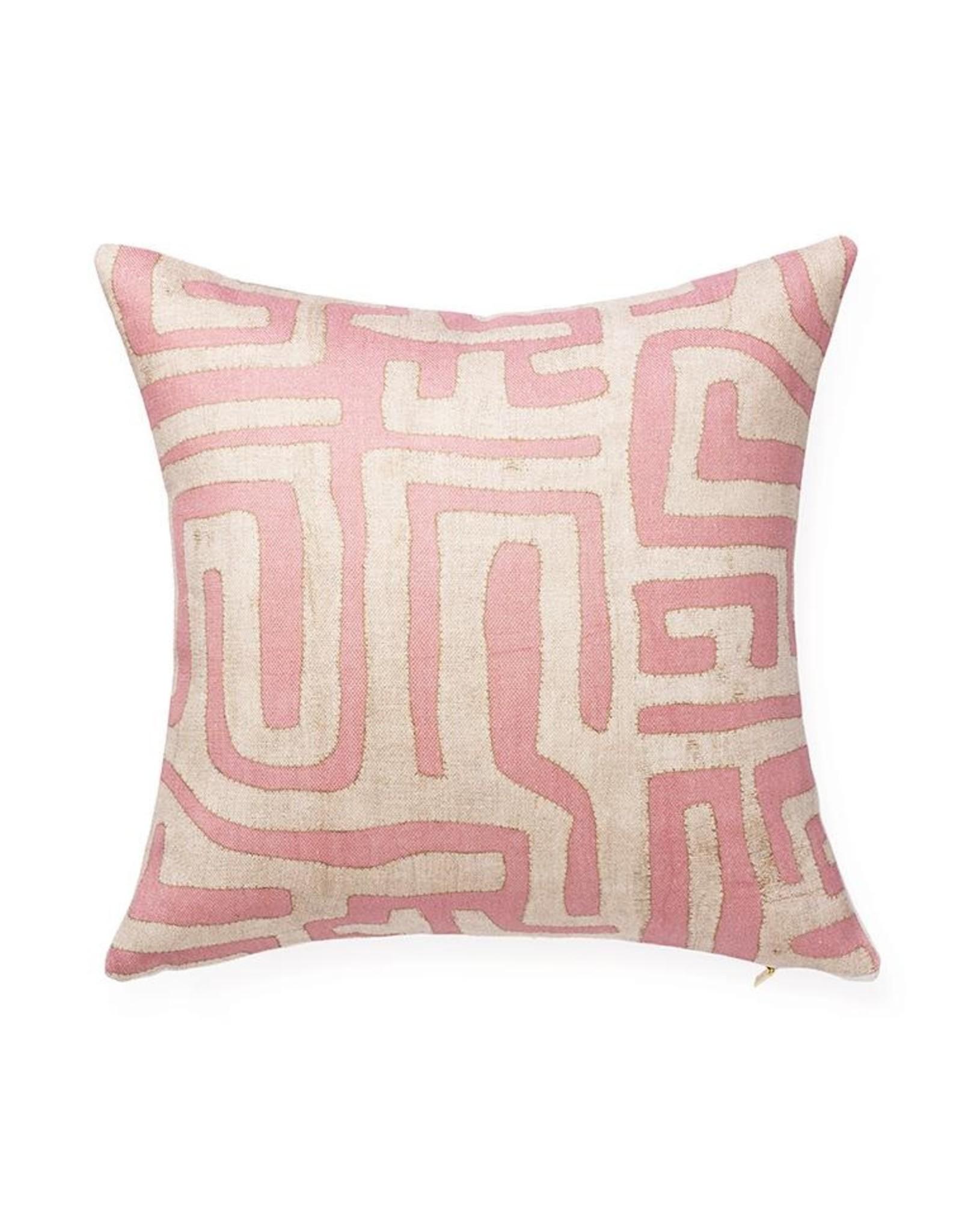 St. Frank Pink Kuba Pillow 18x18
