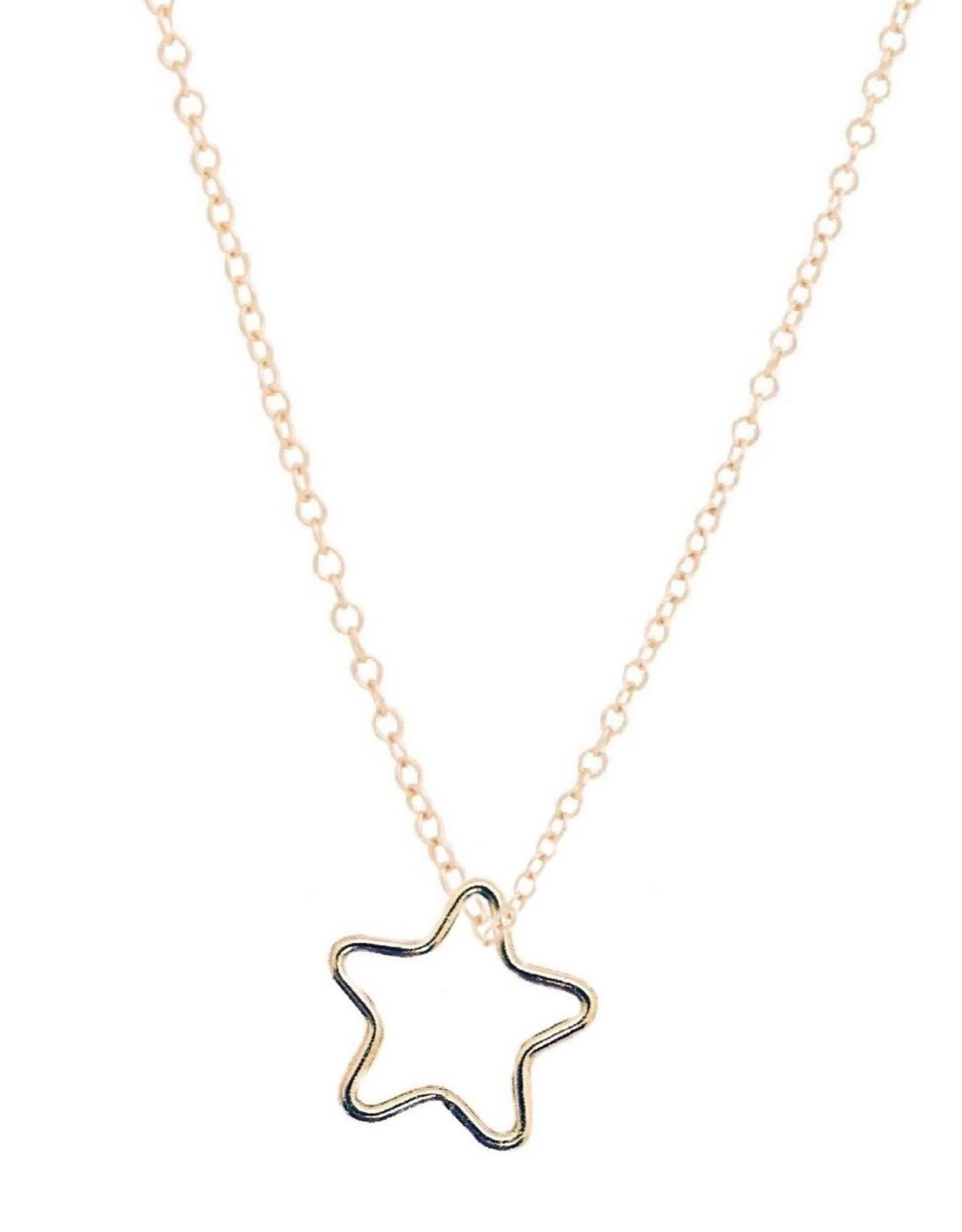 """e.newton 16"""" Gold Necklace - Star"""