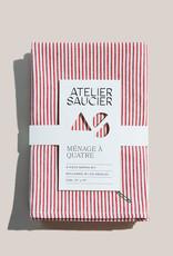 Atelier Saucier Candy Stripe Napkin Set