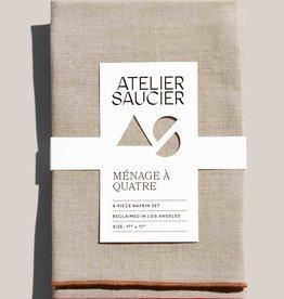 Atelier Saucier Hollyberry Linen Napkin Set