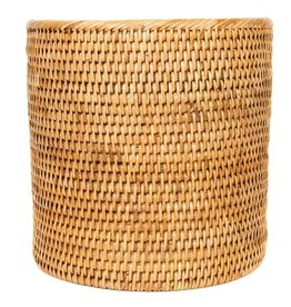 Artifacts Trading Company Rattan Round Wastebasket