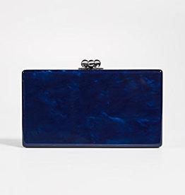 Edie Parker Acrylic Sapphire Clutch
