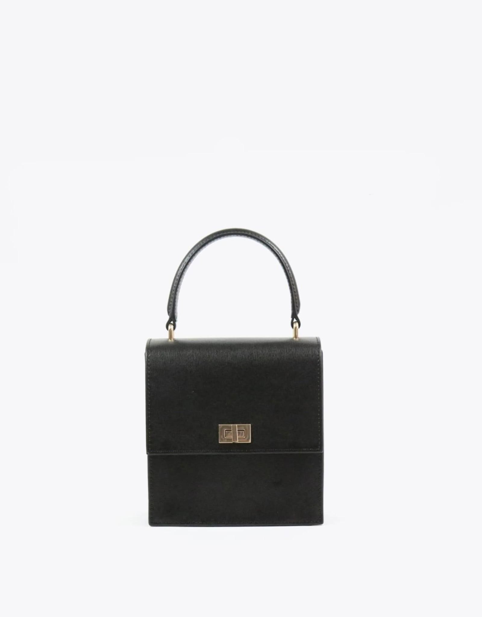 Neely & Chloe Mini Lady Bag - Black Saffiano