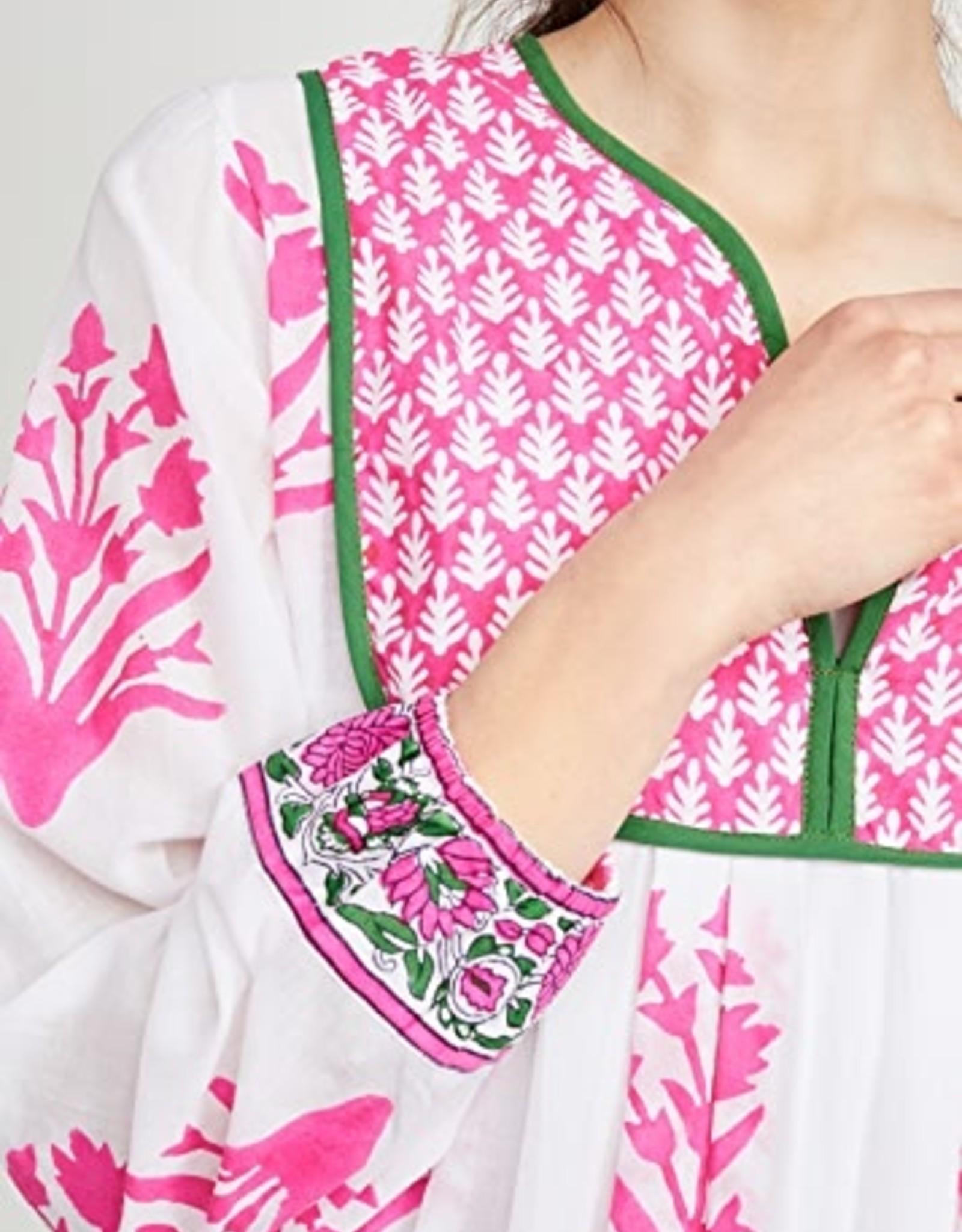 SZ Blockprints Kitty Dress Hot Pink