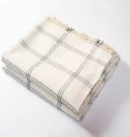 Harlow Henry Windowpane Alpaca Throw - Creme