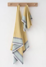 Mungo Cotton Diamond Bath Towel - Canary