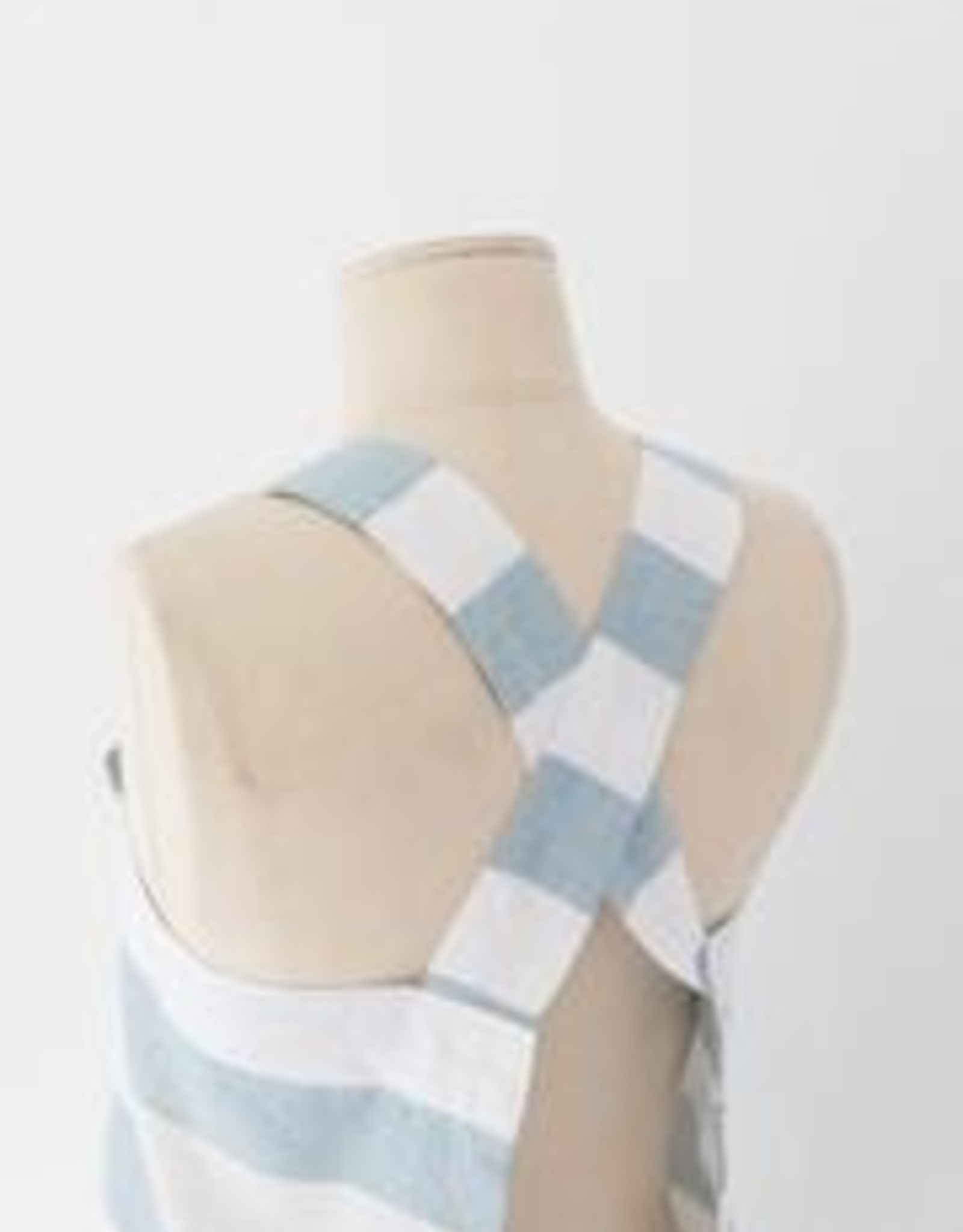 Heirloomed Collection Blue Stripe Crossback Apron