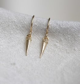 Thicket Jewelry Catbrier Thorn Earrings 14k