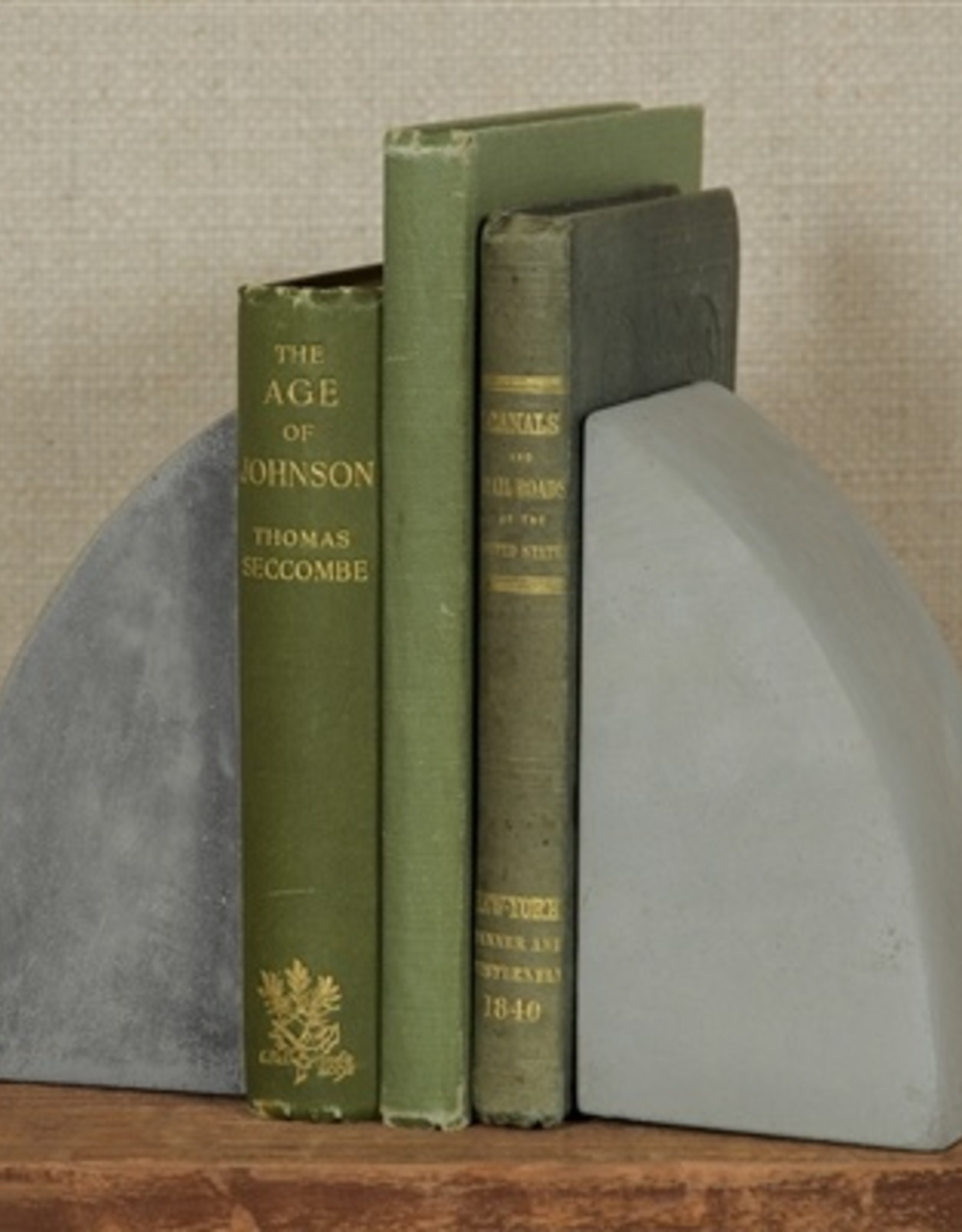 HomArt Geo Arch Cement Bookends