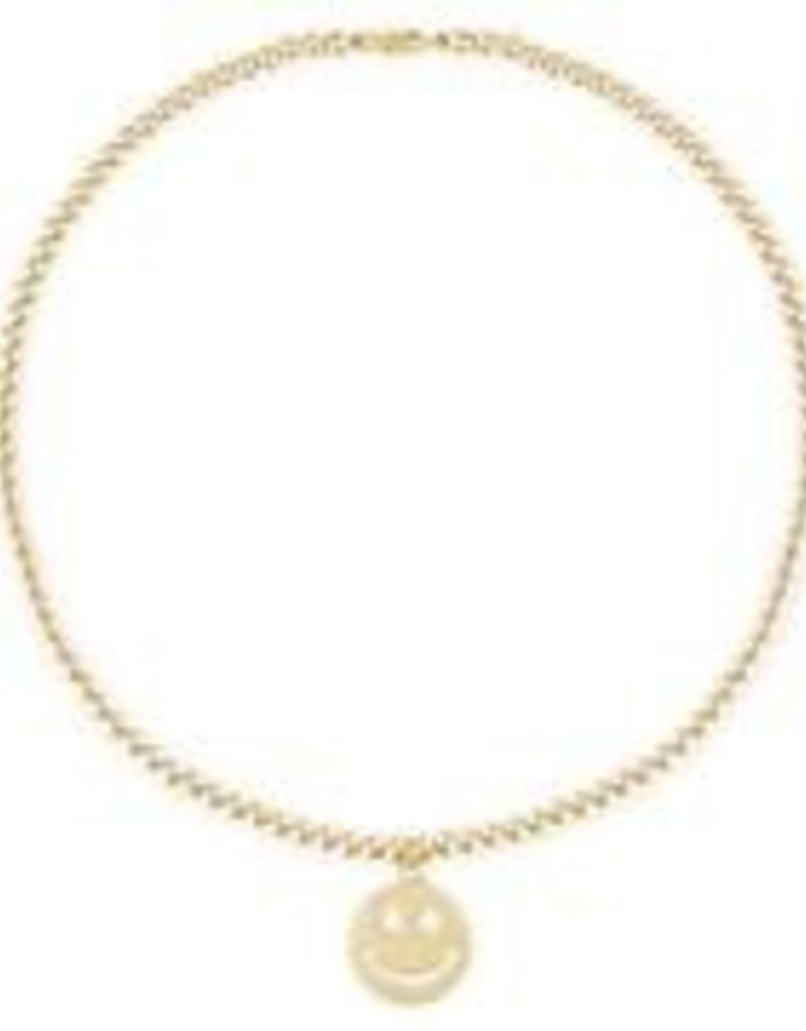 """Alexa Leigh Happines(Smile)  4mm Gold Ball Necklace   - 20 """""""
