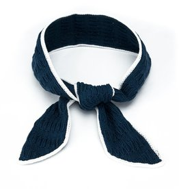 Elyse Maguire Blue Knit Skipper Scarf