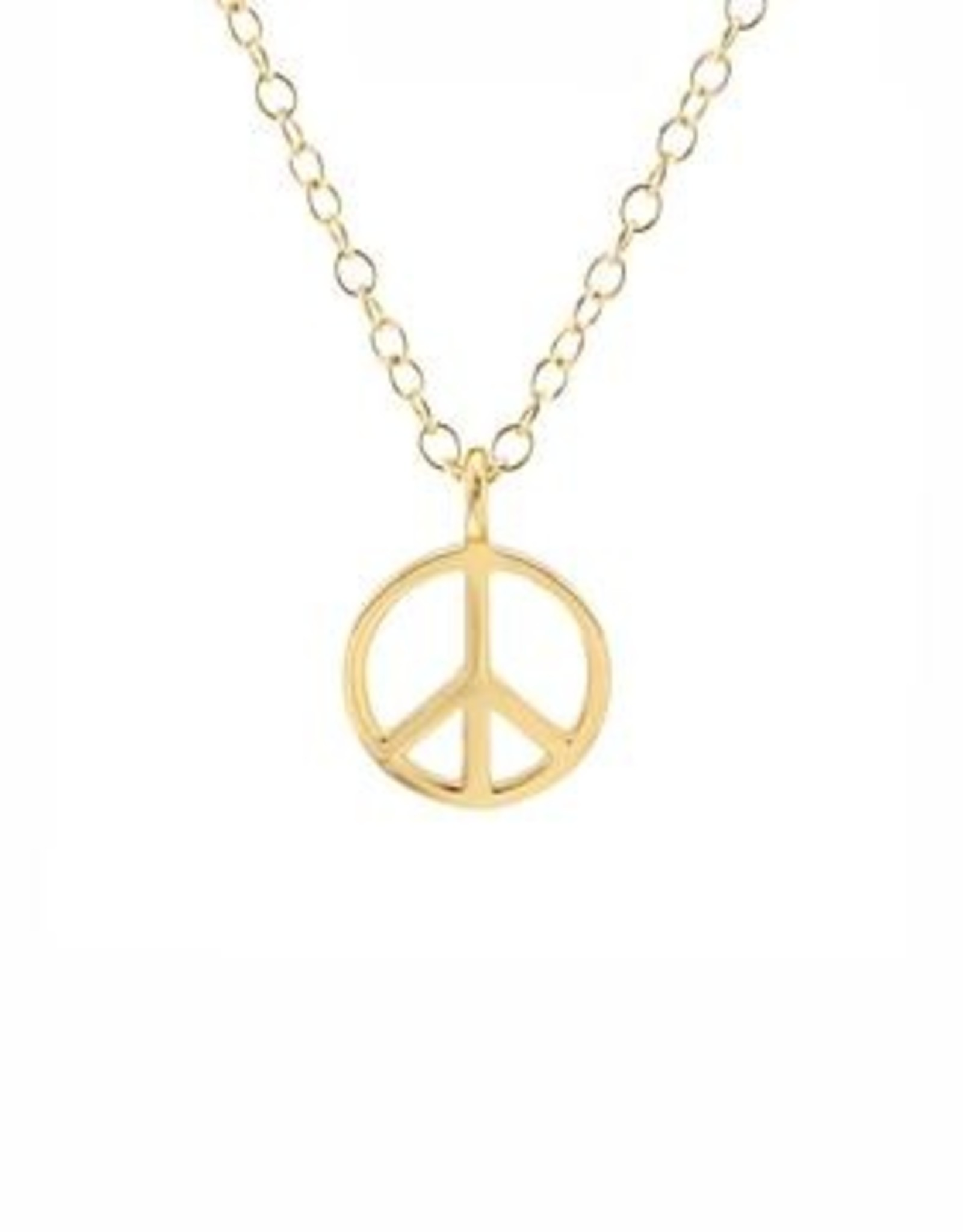 Kris Nations Peace Sign Charm Necklace