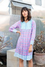 SZ Blockprints Jaipur Dress - Pineapple Print