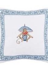 Peking Handicraft Monkey Embroidered Pillow