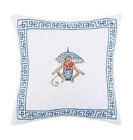 Peking Handicraft Monkey Embroidered Pillow