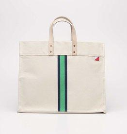 Shore Bags Striped Box Tote - Green