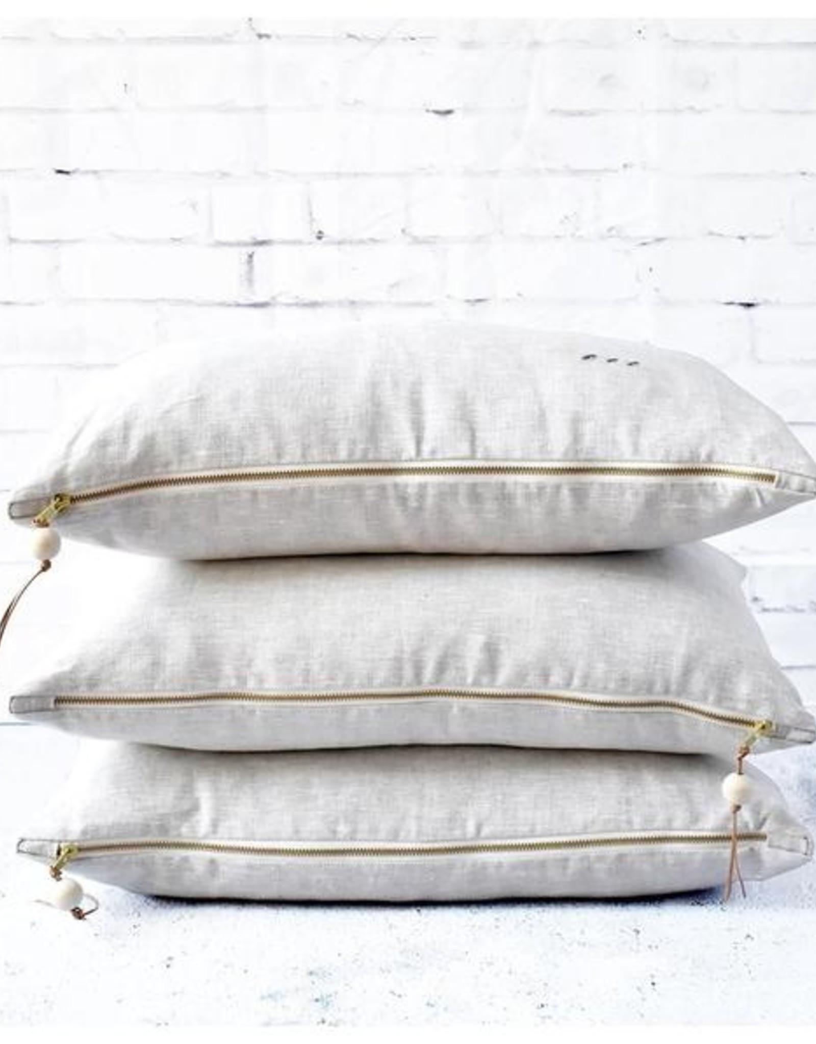 Celina Mancurti Lumber Linen Pillow-oatmeal