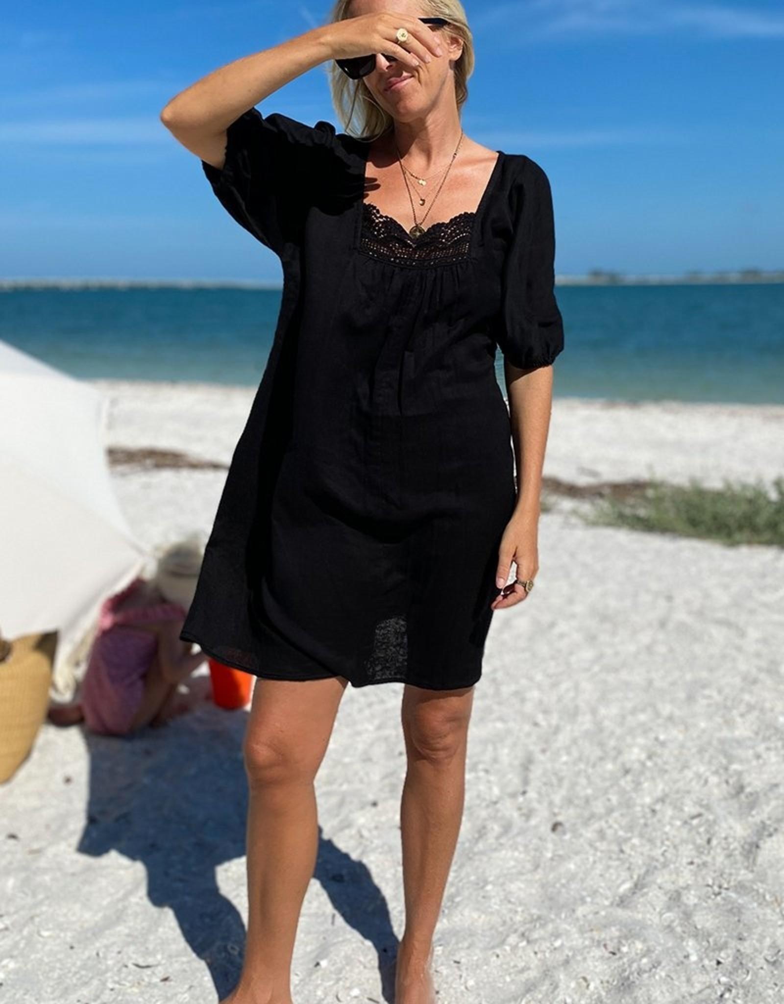 Emerson Fry Rosemary Dress- Black Gauze