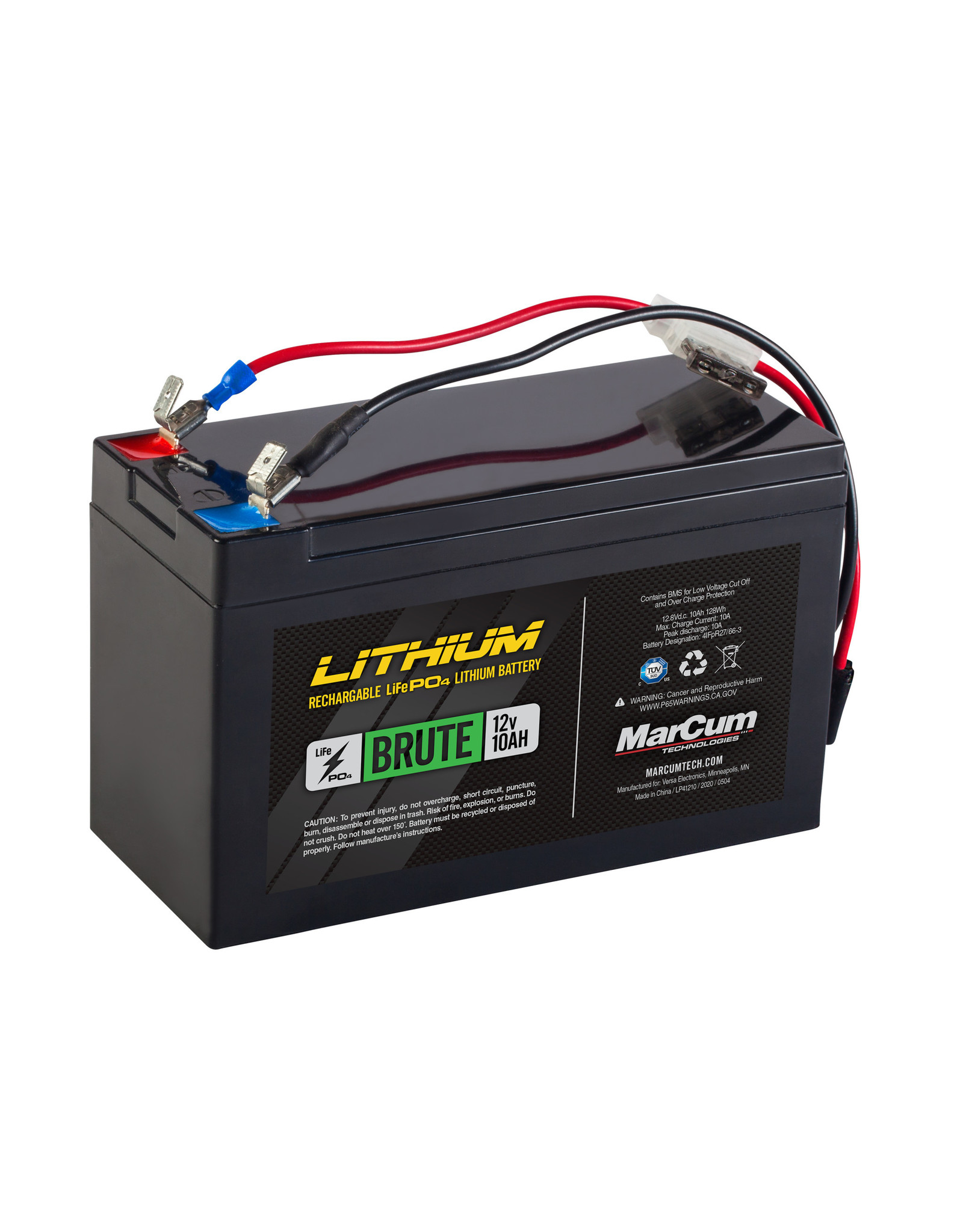 MarCum Technologies MarCum Brute 12V 10AH LiFePO4  Battery and 3amp Charge