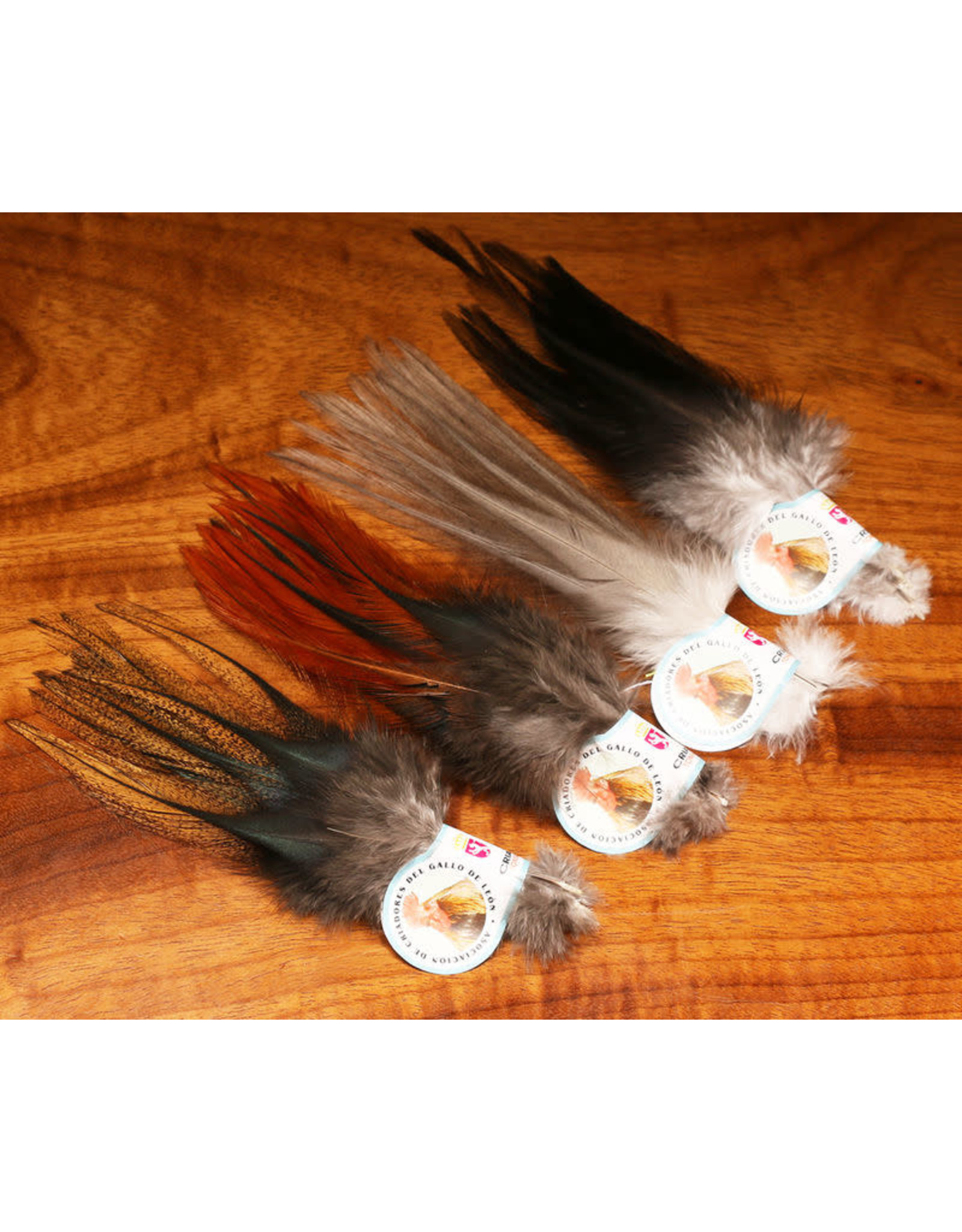 Hareline Dubbin Gallo De Leon Saddle Feathers
