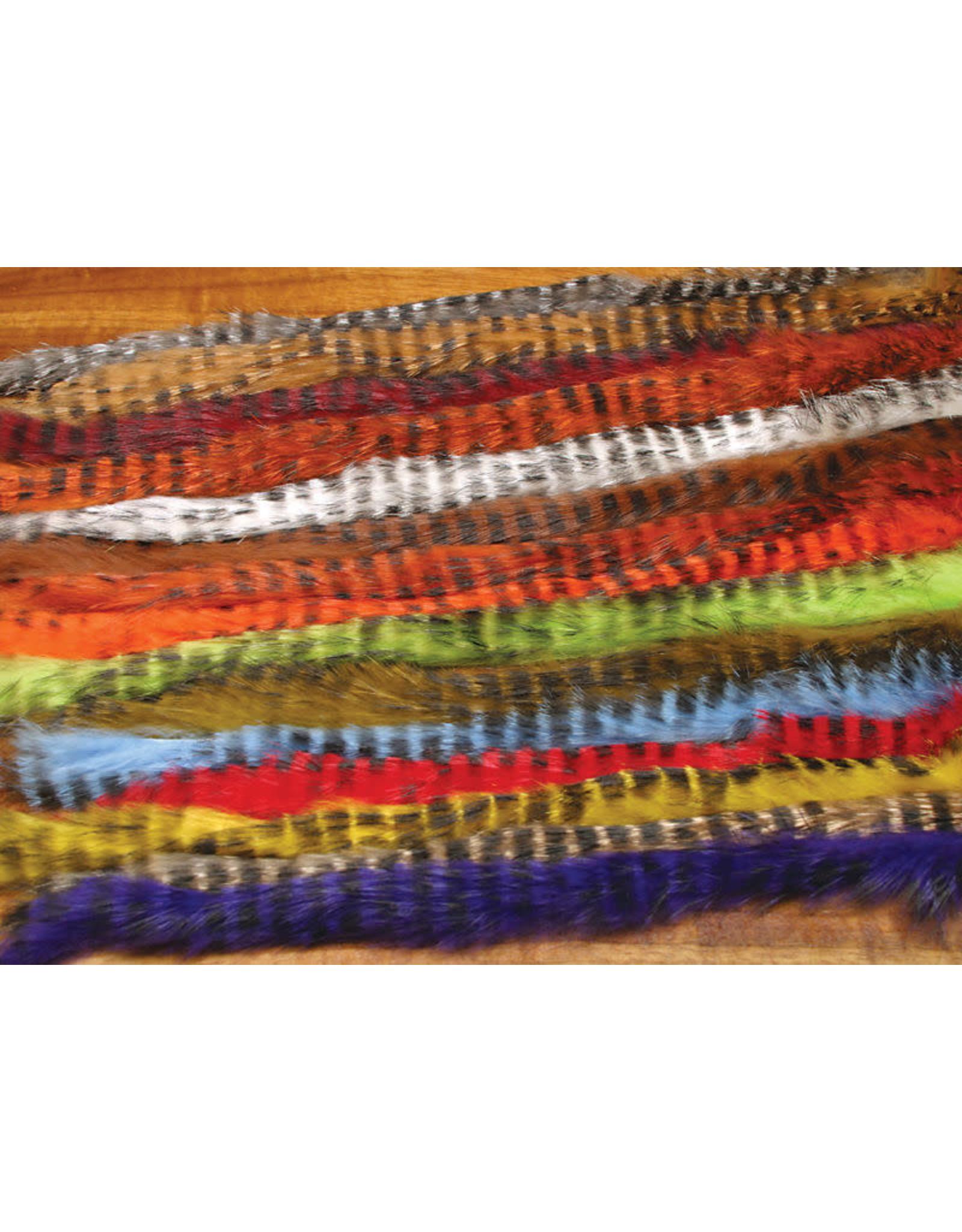 Hareline Dubbin Hareline Black Barred Rabbit Strips