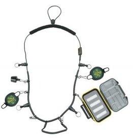 Dr. Slick Dr. Slick Elastic Necklace w/Tippet Spool Caddy, Retractors, Floatant Holder, Waterproof Fly Box