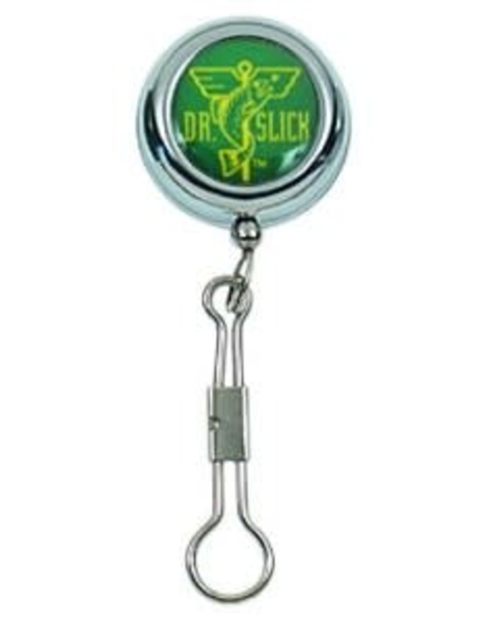 """Dr. Slick Dr. Slick Clip-On-Reel, Silver, Steel Cord, """"8"""" Ring"""