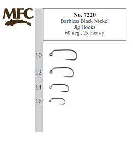 Montana Fly Company MFC Barbless Jig Hook 60 degree Black Nickel