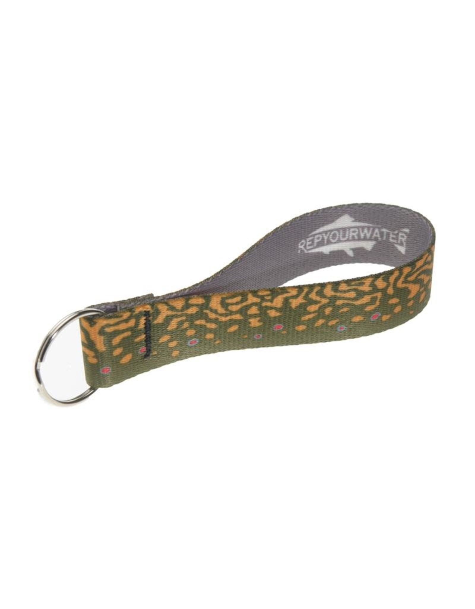 Rep Your Water RepYourWater Brook Trout Skin Key Fob