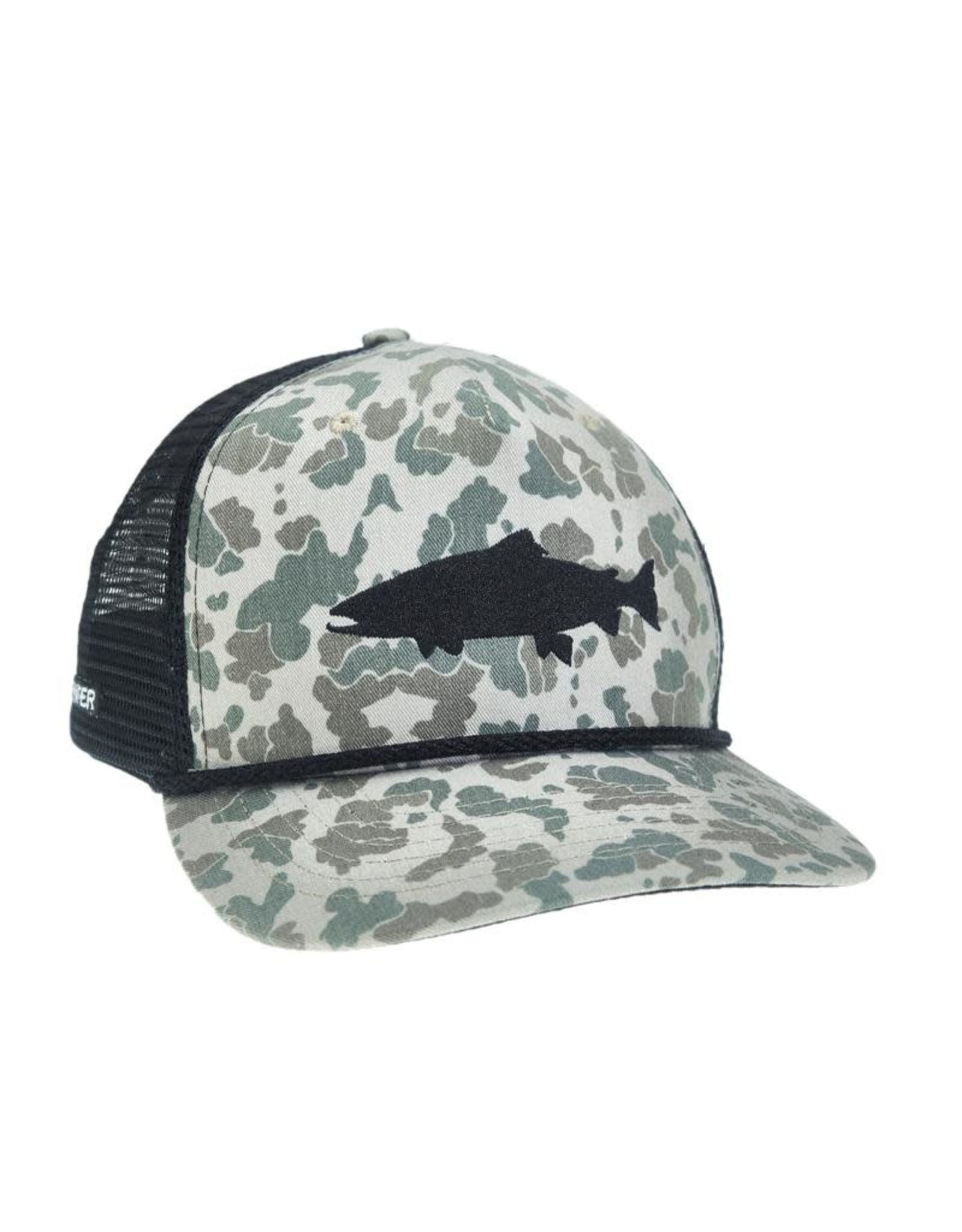 Rep Your Water RepYourWater Camo Trout Retro Hat 5 Panel