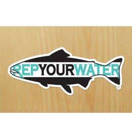 Rep Your Water RepYourWater RYW Logo Sticker