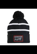 Striker Ice Striker Ice Striped Pom Hat Black/White