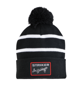 Striker Ice Striker Ice Striped Pom Hat Black/White