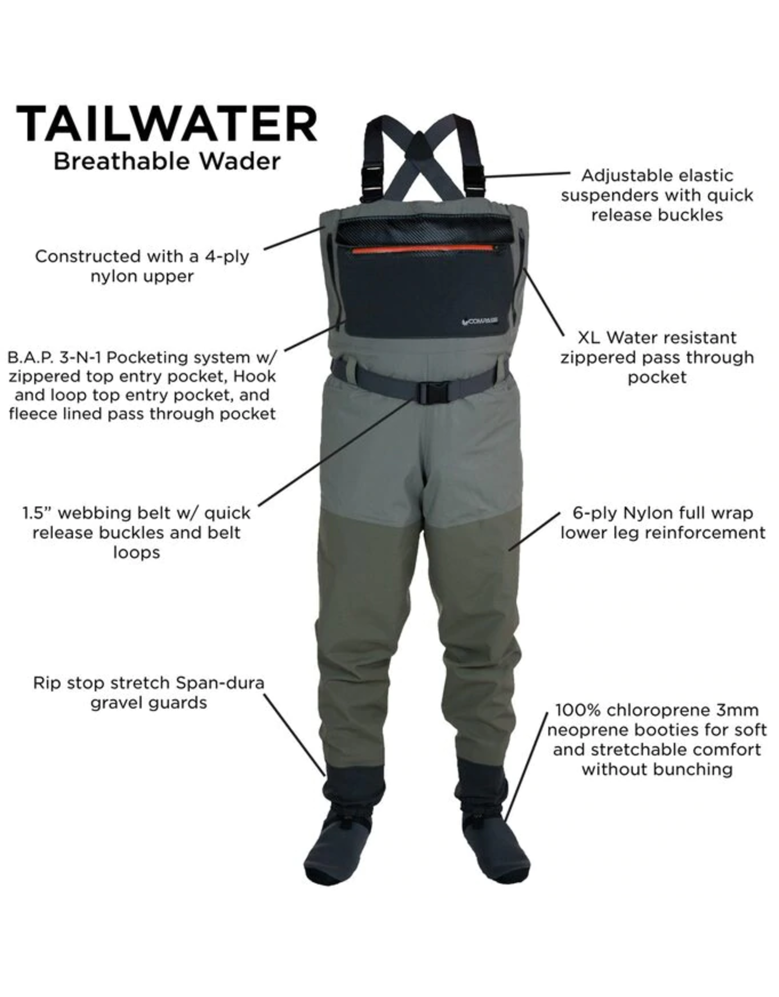 Compass 360 Compass 360 Tailwater Breathable Stockingfoot Wader