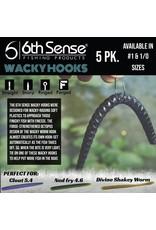 6th Sense Fishing 6th Sense Wacky Hooks - 1/0 - 5 pack