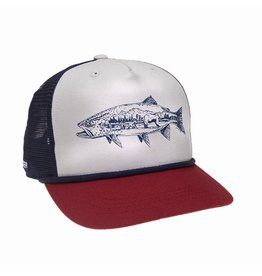 Rep Your Water RepYourWater Grizzly Trout Johann Du Preez Collab 5 Panel Hat