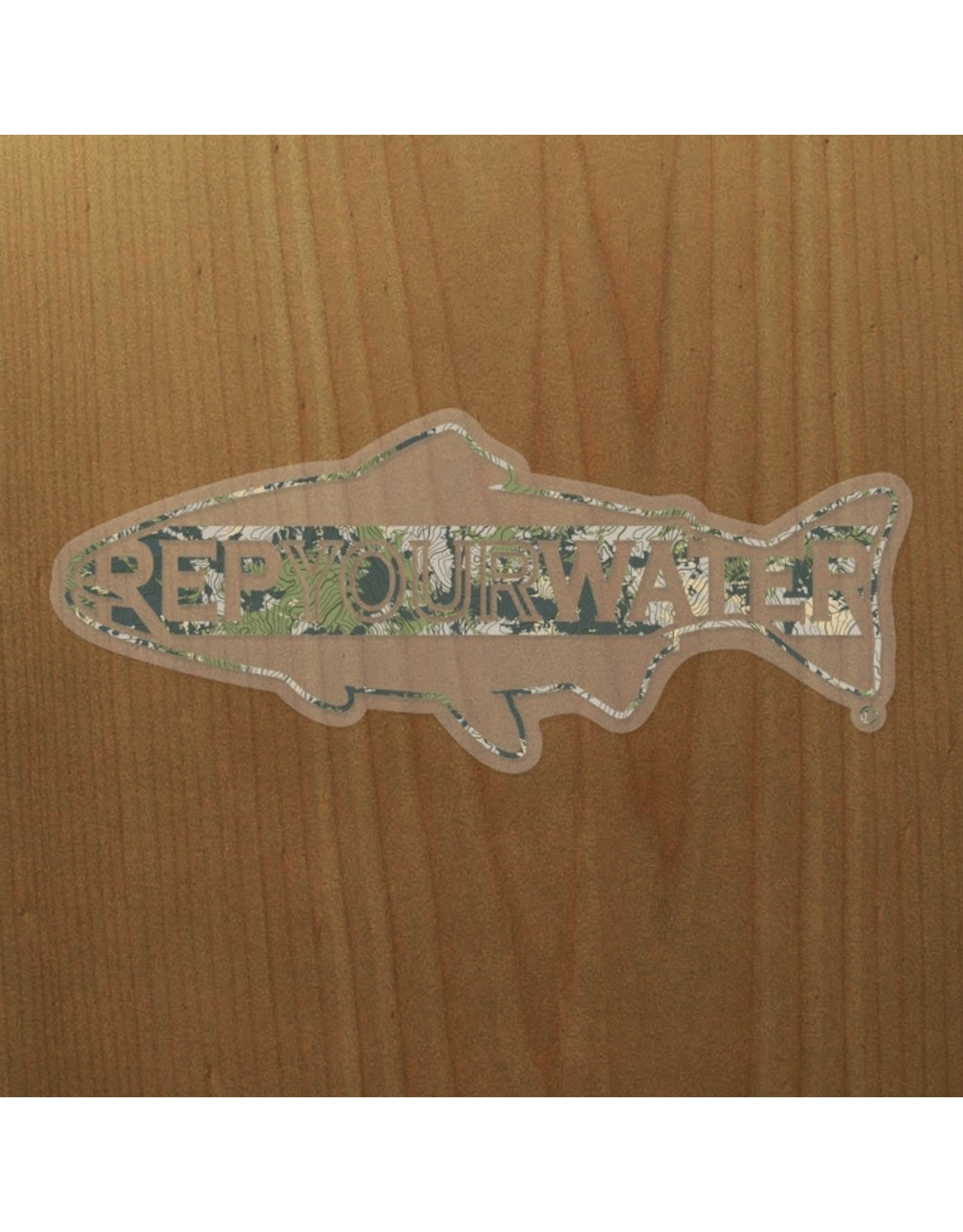 Rep Your Water RepYourWater Topo Camo XL Sticker