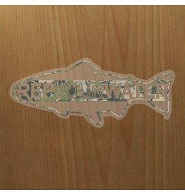 Rep Your Water RepYourWater Topo Camo XL Sticker