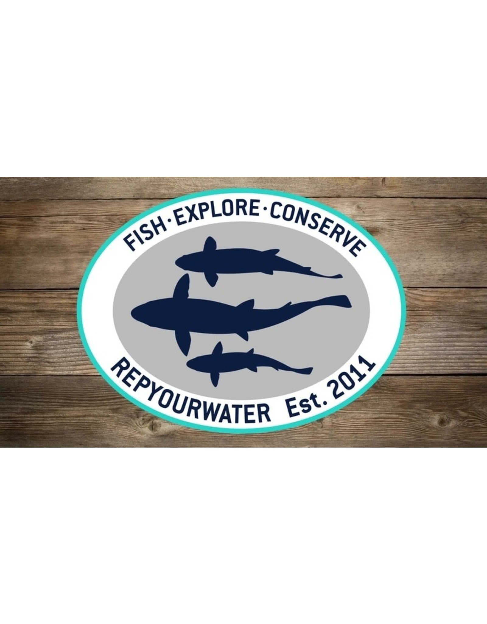 Rep Your Water RepYourWater Silhouette Trio 2.0 Sticker