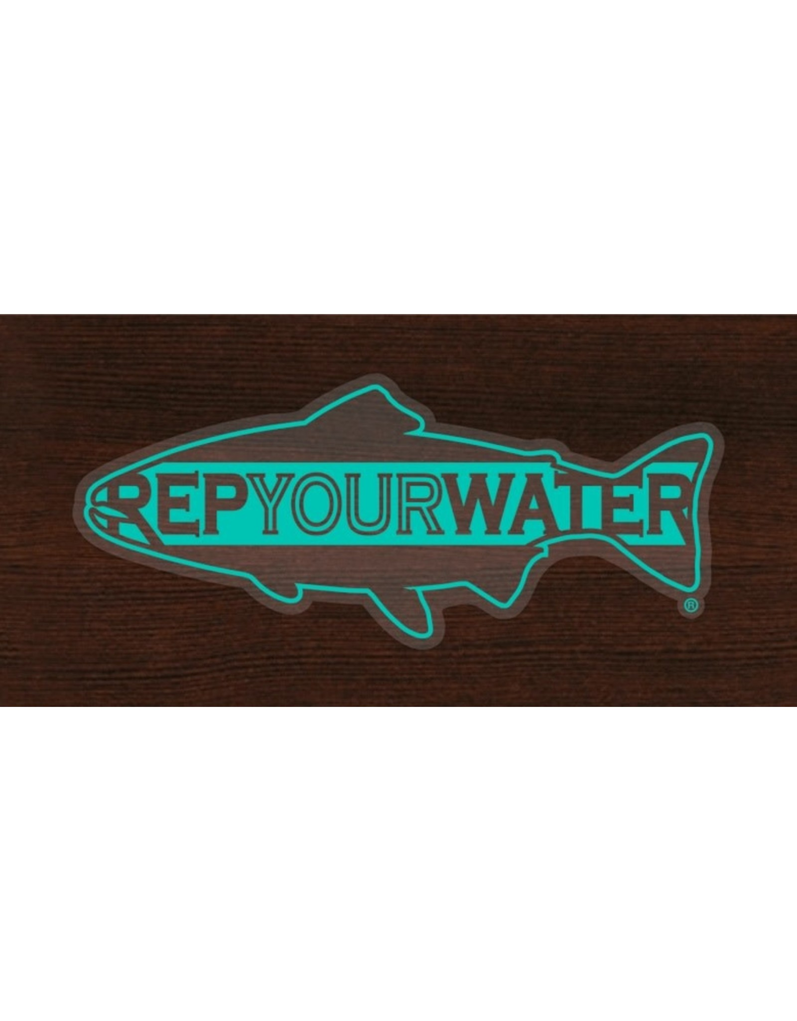 Rep Your Water RepYourWater Clear Water Logo Sticker