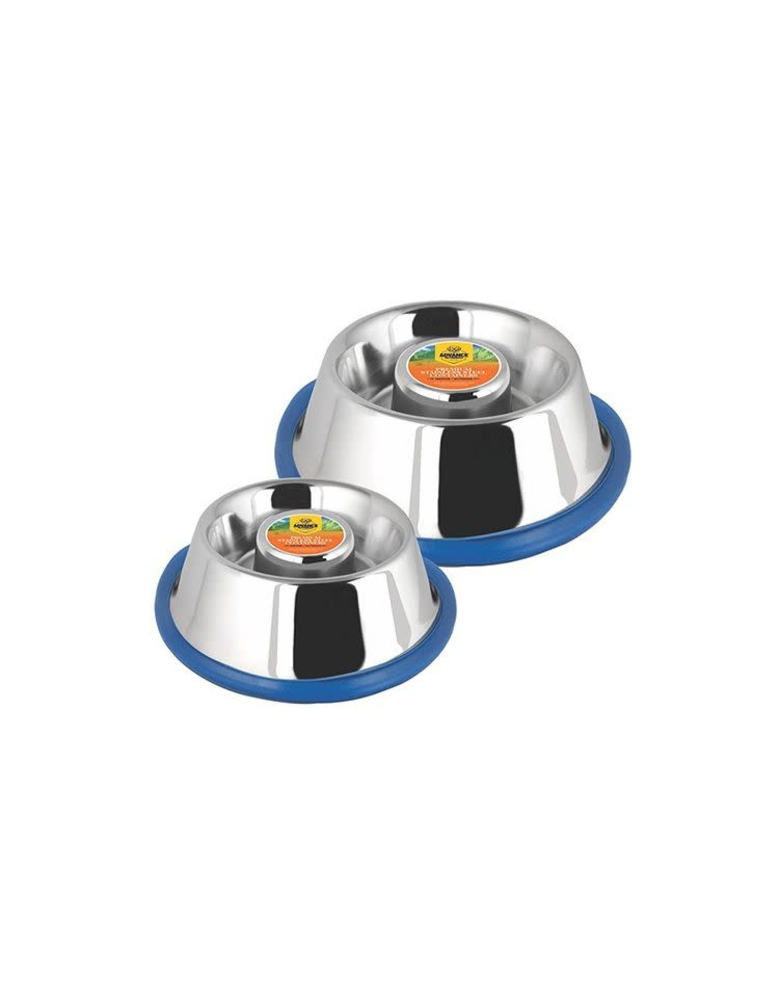Tailfin Sports Advanced Pet Products Slow Feeding Stainless Steel Bowl - 58 oz.
