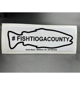 Tackle Shack #fishtiogacounty Sticker - White