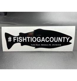 Tackle Shack Tackle Shack #fishtiogacounty Sticker - Black