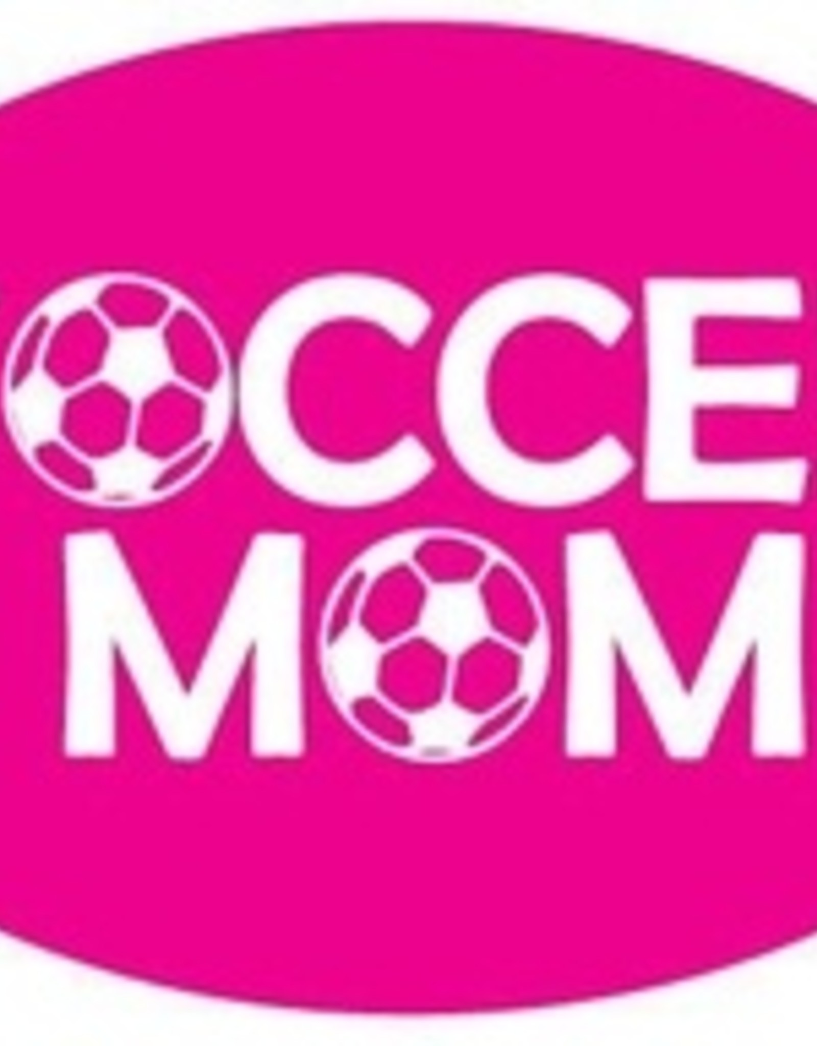 Soccer Mom Decal - Pink