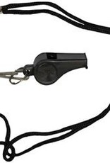 Official Sports Whistle and Lanyard - Black