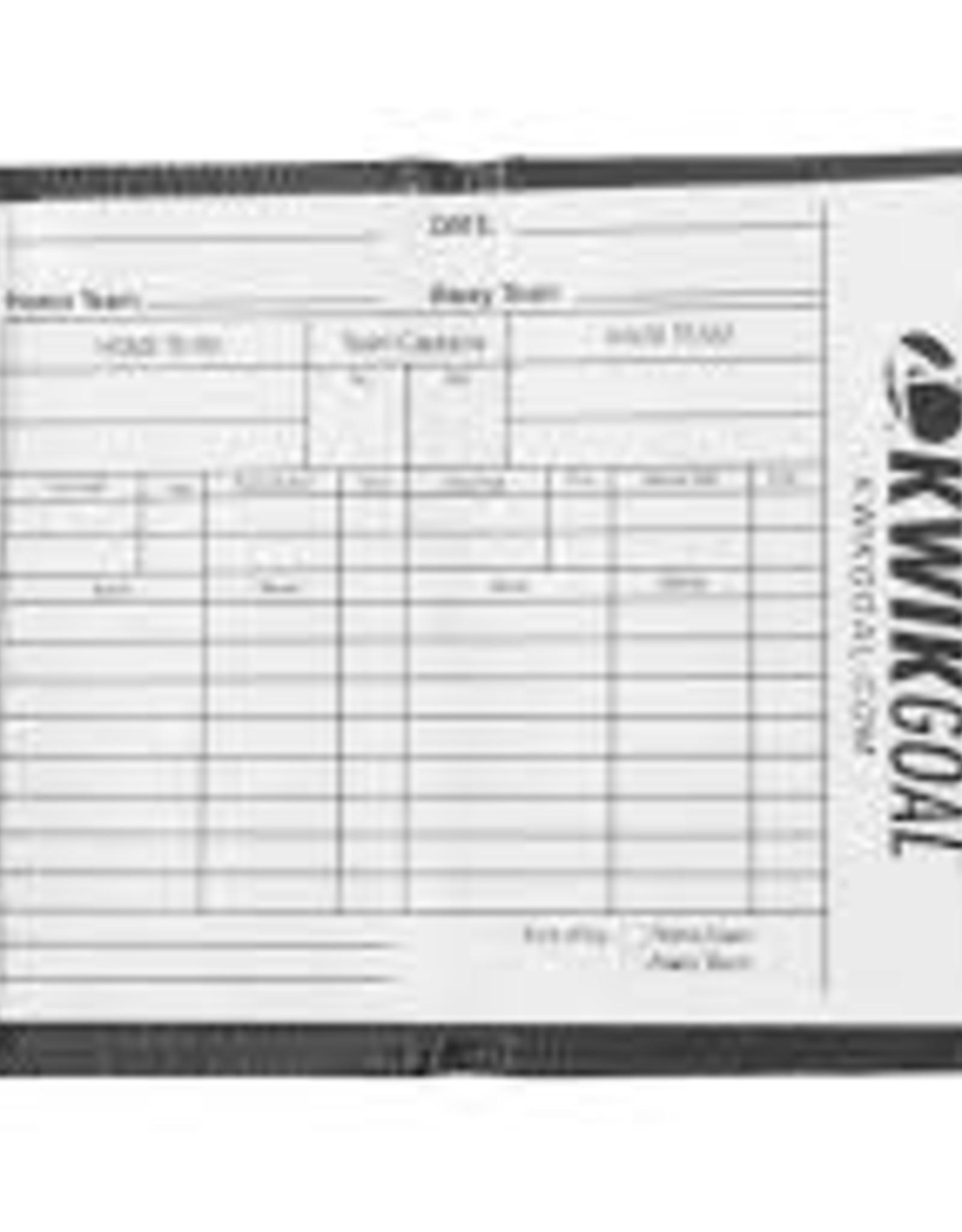 Kwik Goal Kwik Goal Coach's Notebook