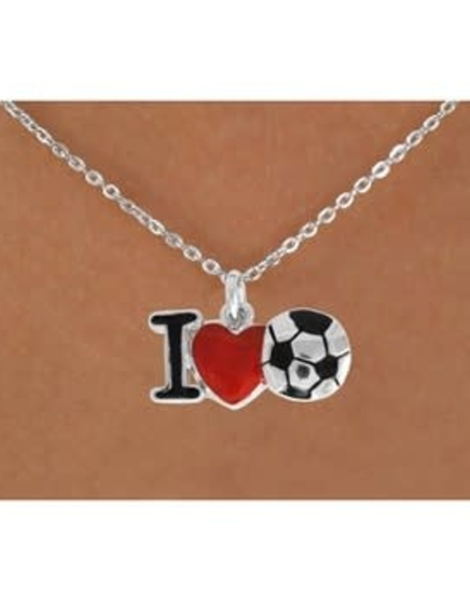 I Heart Soccer Necklace