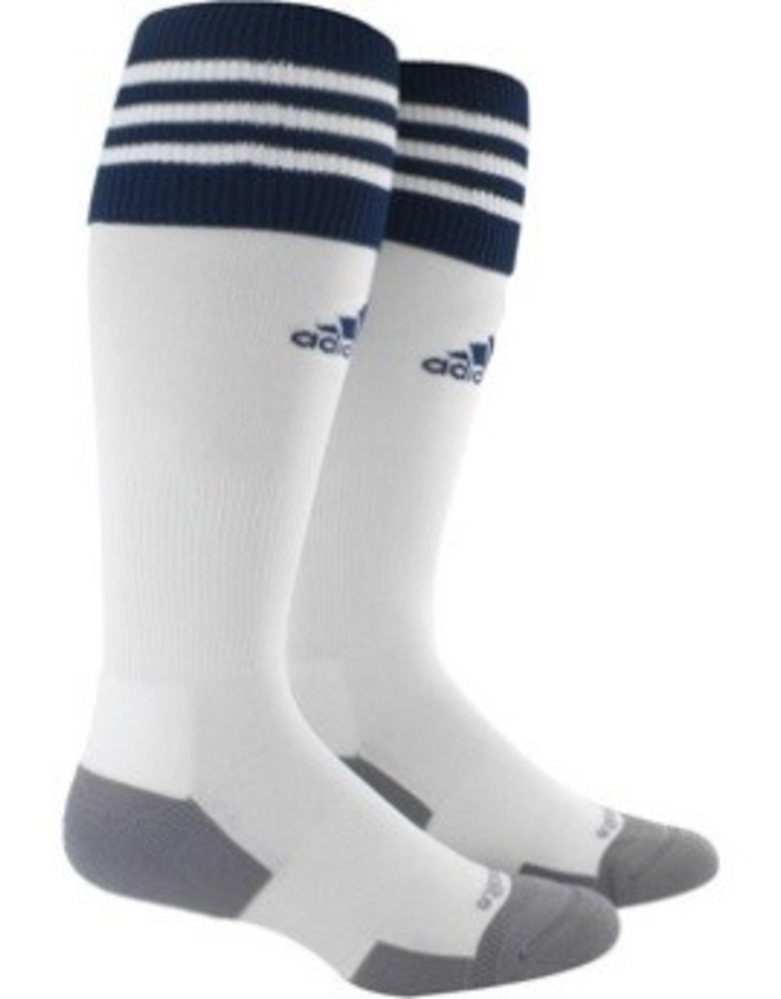 Adidas Adidas Copa Zone 11 Socks White w/Navy 7.8.5 Size
